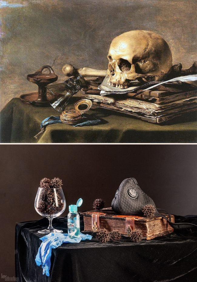 Pieter Claesz. Still life with a skull (1630)