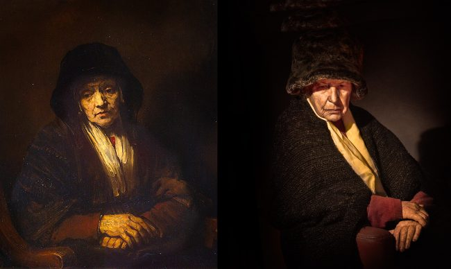 Rembrandt van Rijn. Portrait of an old woman (1654)